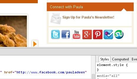 Paula Deen page officielle sur Facebook
