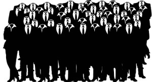 anonymous crowd
