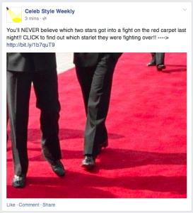 Clickbating sur Facebook
