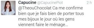 Deuxième tweet de Capucine Piot à Helpling