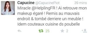Quatrième tweet de Capucine Piot à Helpling
