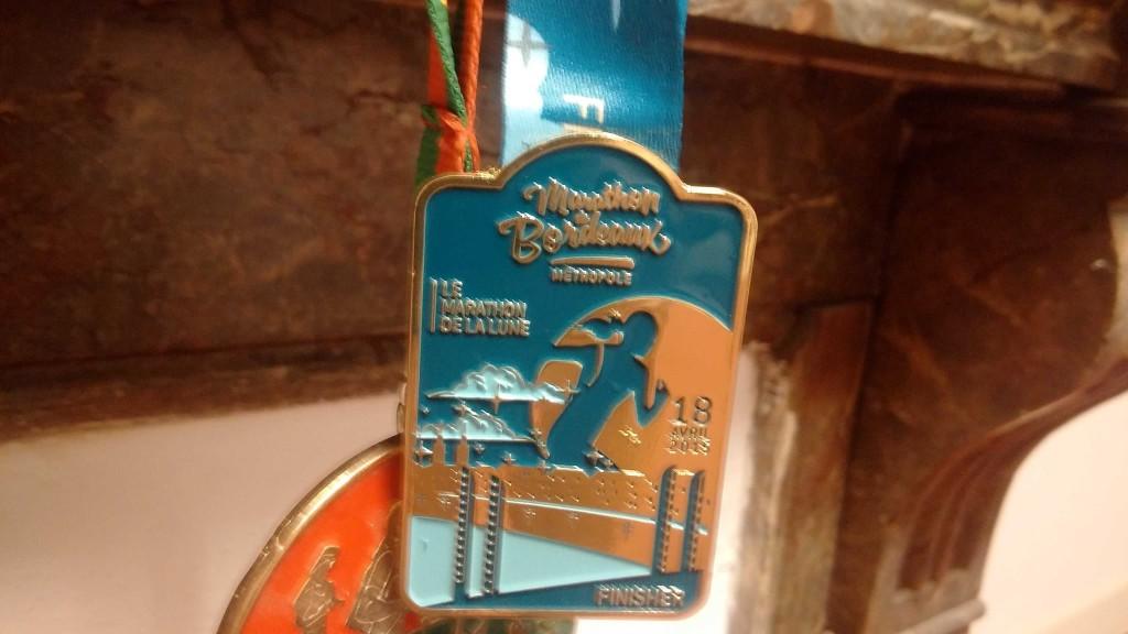 médaille marathon de Bordeaux